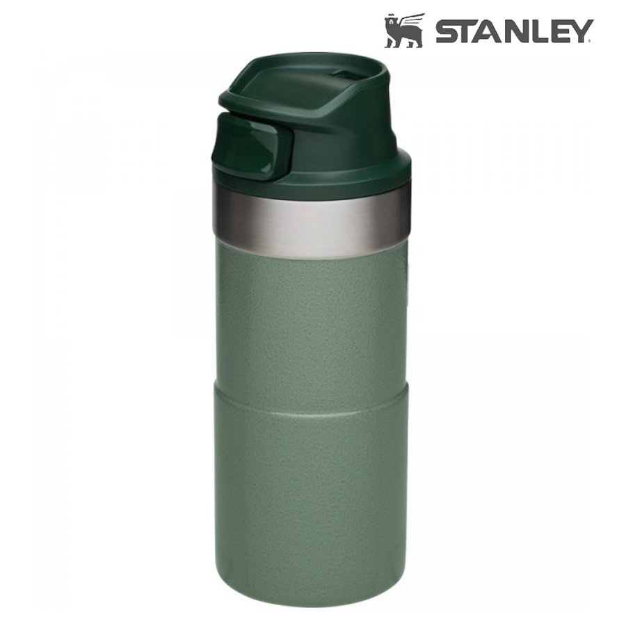 Classic One Hand Vacuum Mug 0.35 Liter Hammertone Green Lunchpot