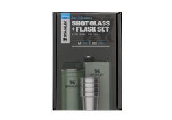 Stanley Thermos Adventure Steel Shot Flask Hammertone Green Cadeau-set
