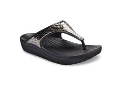 Crocs Sloane Platform Gunmetal-Black Slippers Dames