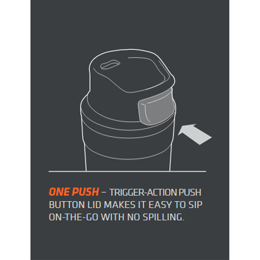 Classic One Hand Vacuum Mug 0.35 Liter Nightfall Lunchpot
