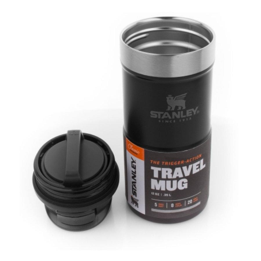 Classic One Hand Vacuum Mug 0.35 Liter Matte Black Lunchpot