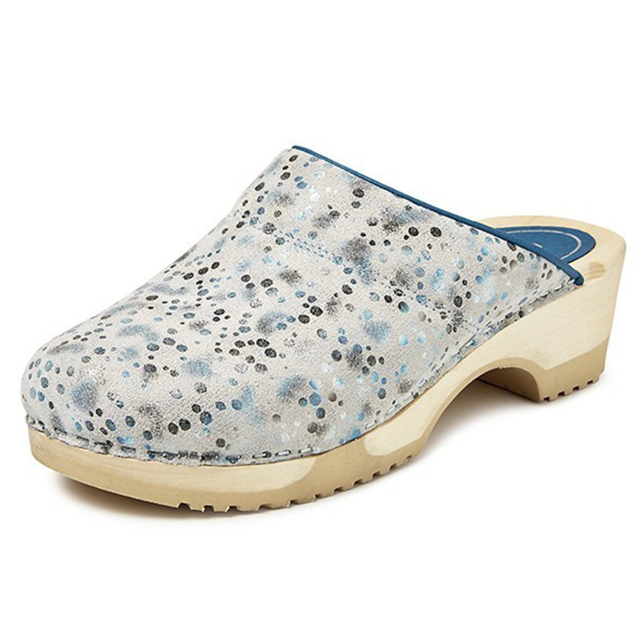 3630 Space Blauw Clogs Dames