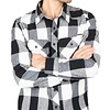 Brandit Check Shirt White-Black Flanel Overhemd Heren