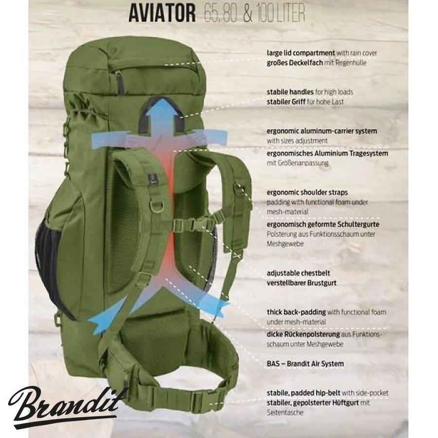 Aviator 80 Liter Olive Rugzak
