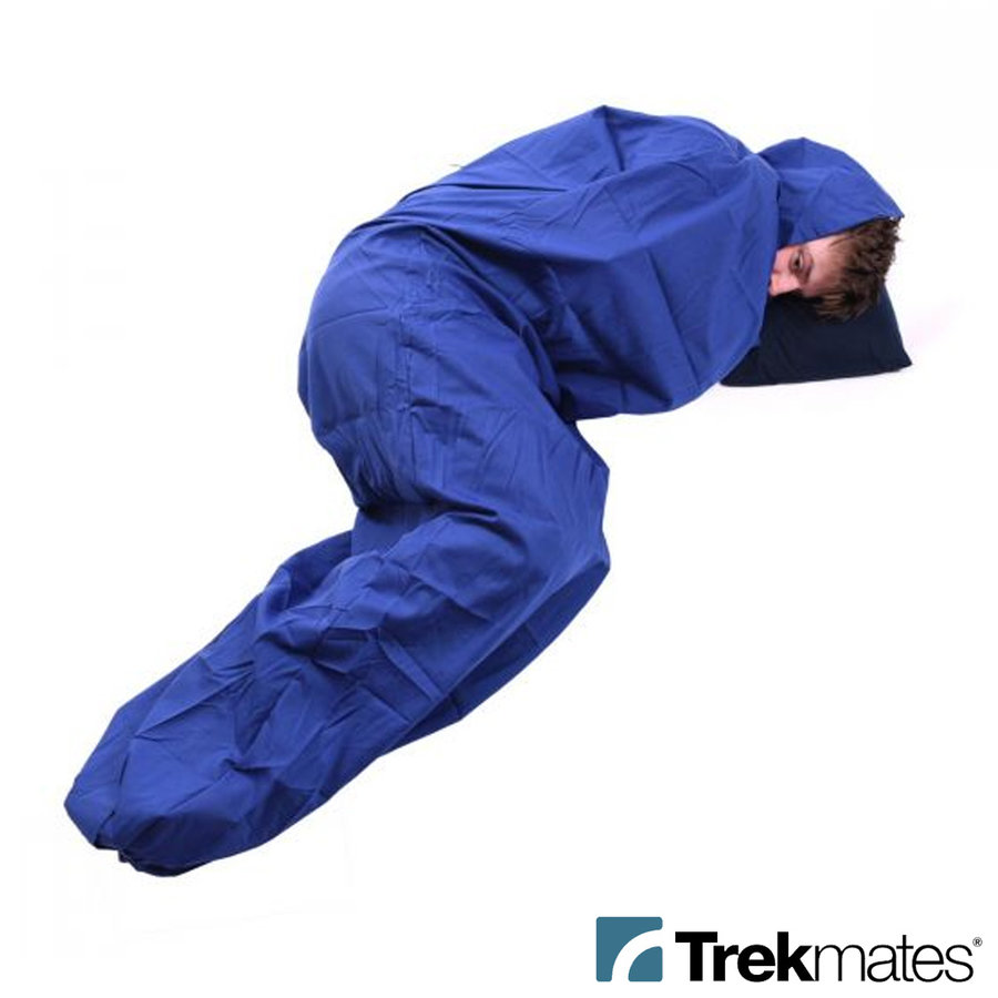 Polycotton Blauw Mummy Lakenzak