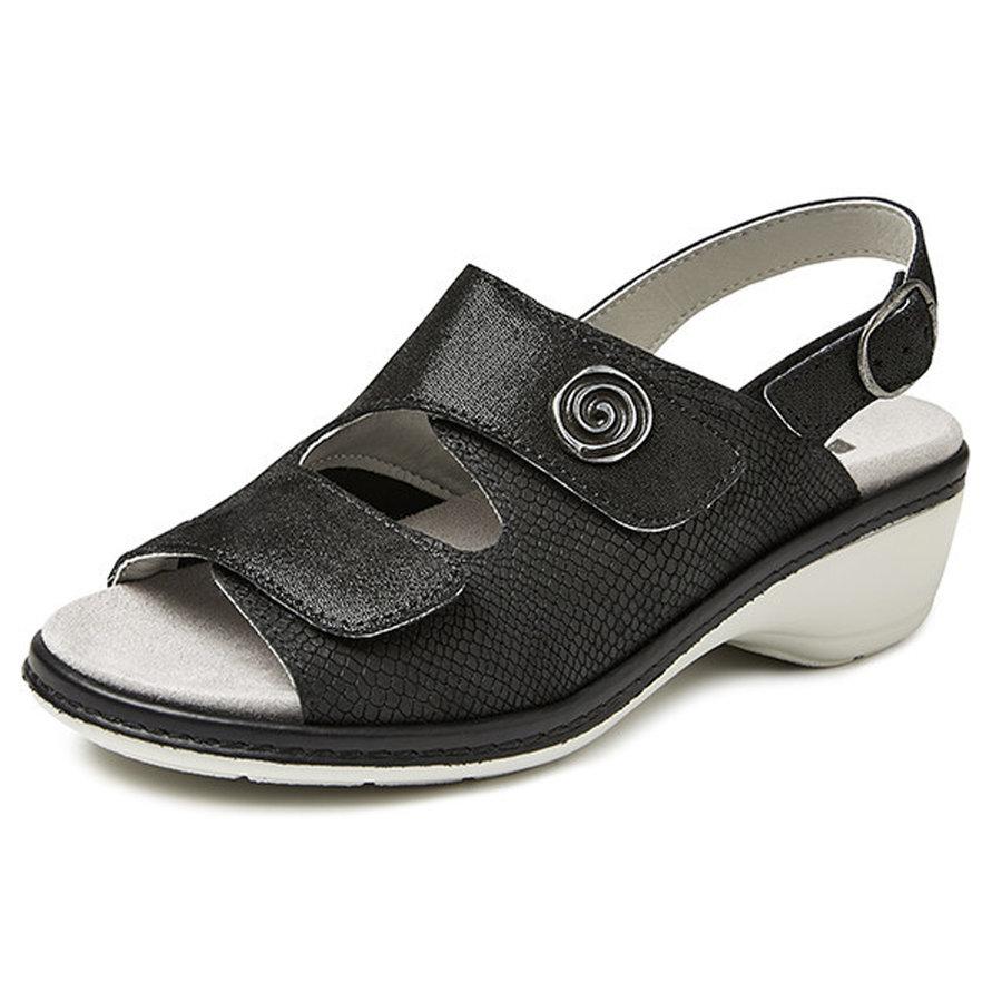 4977 Zwart Sandalen Dames