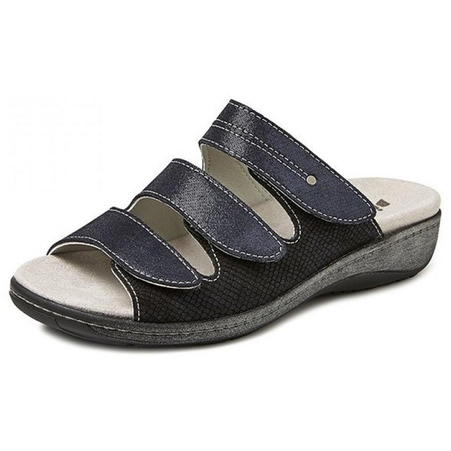 6614 Blauw Slippers Dames