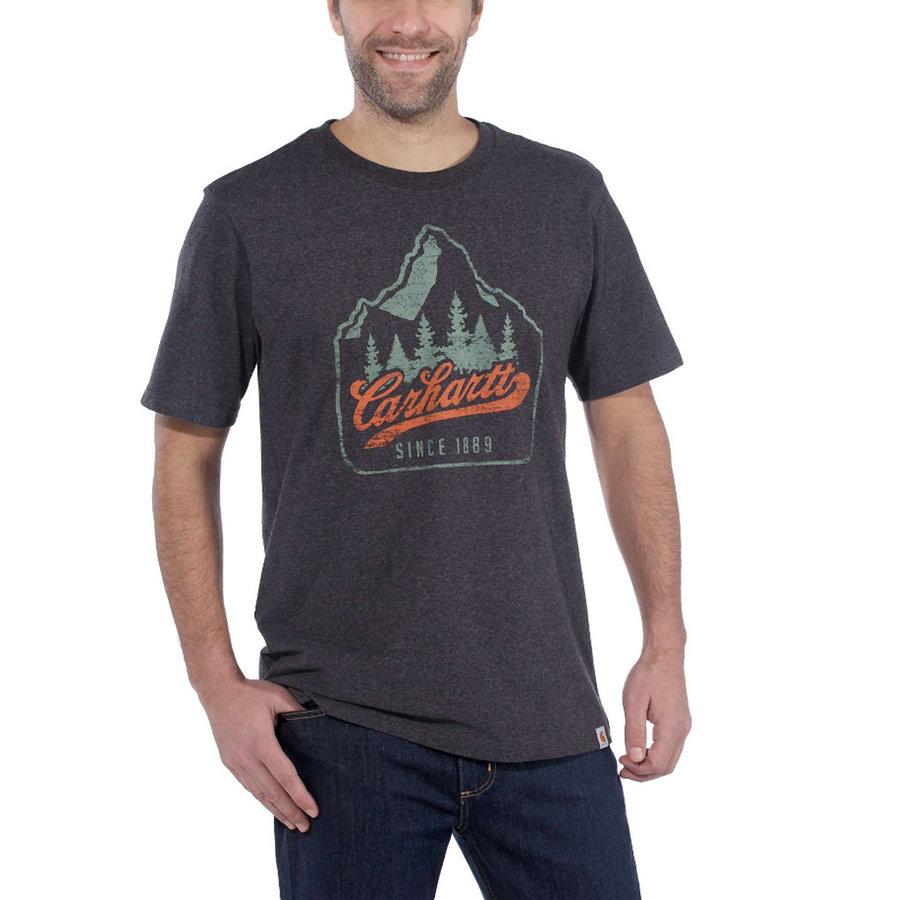 Patch Logo Carbon Heather T-Shirt Heren