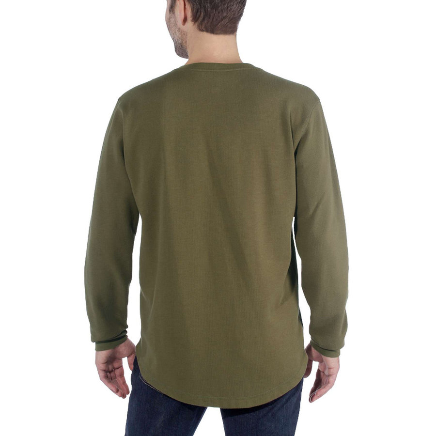 Tilden Graphic Military Olive LS Shirt Heren