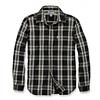 Carhartt Essential Open Collar Zwart Plaid Overhemd Heren