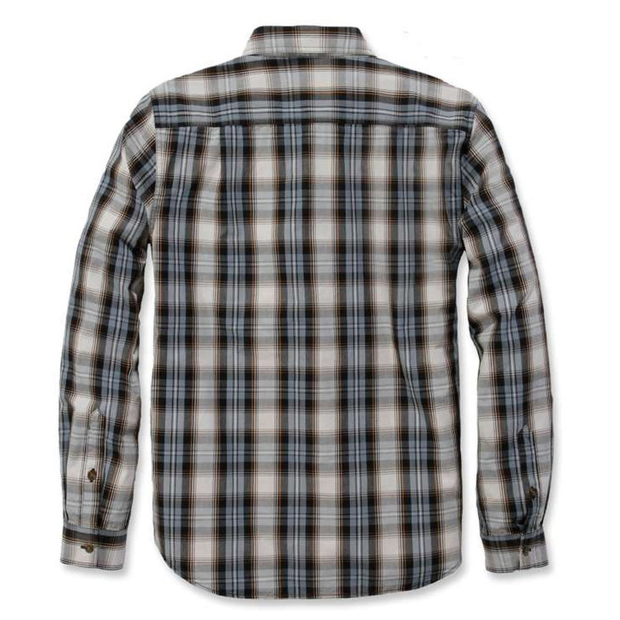 Essential Collar Steel Blue Plaid Overhemd Heren