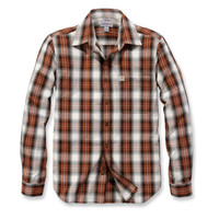 Essential Open Collar Sequoia Plaid Overhemd Heren