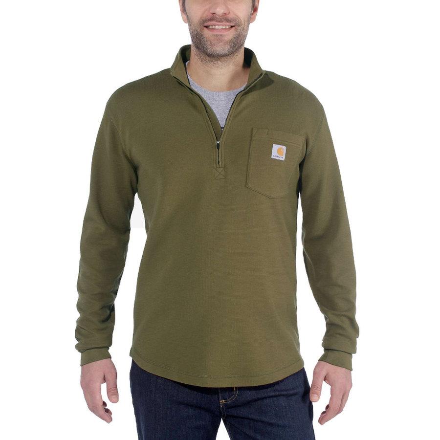 Tilden Half Zip Military Olive Sweater Heren