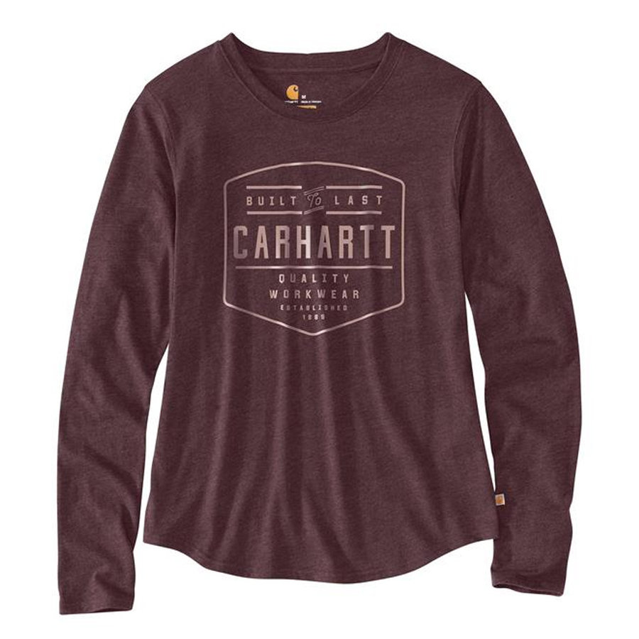 Lockhart Graphic Fudge Heather LS Shirt Dames