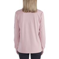 Workwear Sleeve Logo Rose Heather LS Shirt Dames