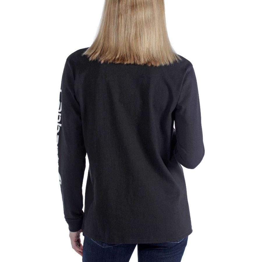 Workwear Sleeve Logo Zwart Long Sleeve Shirt Dames