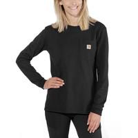 Pocket Zwart Long Sleeve Shirt Dames