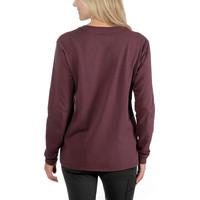 Pocket Deep Wine Long Sleeve Shirt Dames