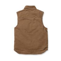 Sandstone Mock Neck Vest Bruin Bodywarmer Heren