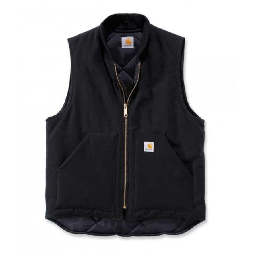 Duck Vest Arctic Quilt Lined Zwart Bodywarmer Heren