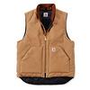 Carhartt Duck Vest Arctic Quilt Lined Bruin Bodywarmer Heren