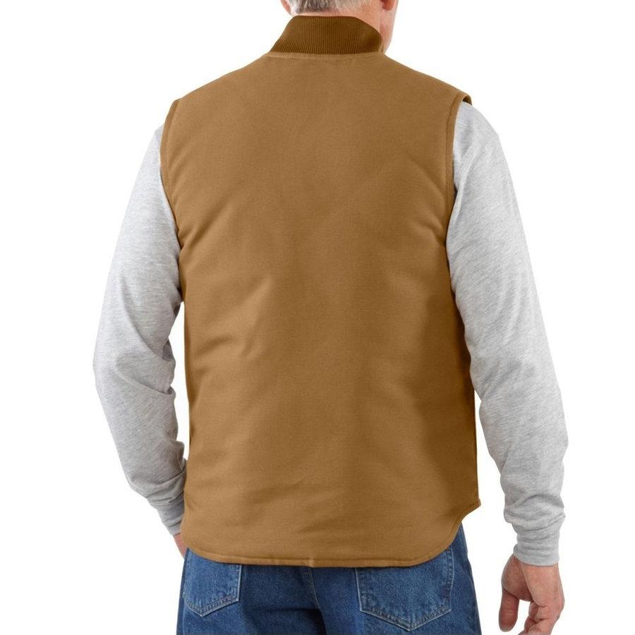 Duck Vest Arctic Quilt Lined Bruin Bodywarmer Heren