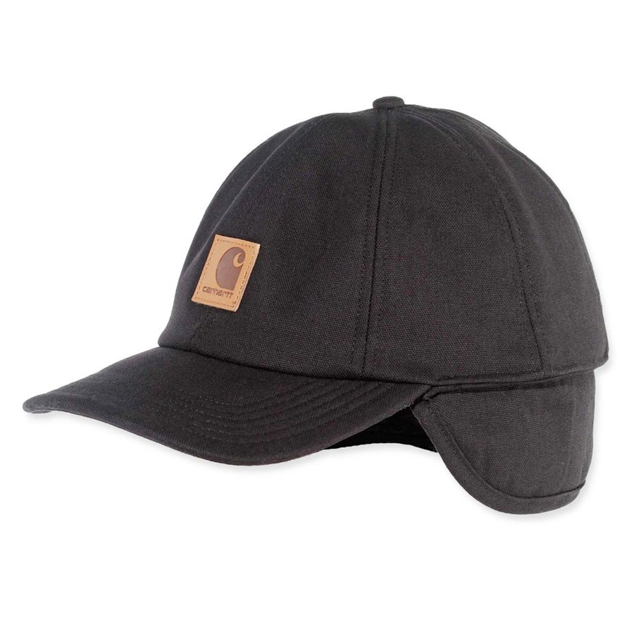 Ear Flap Zwart Cap