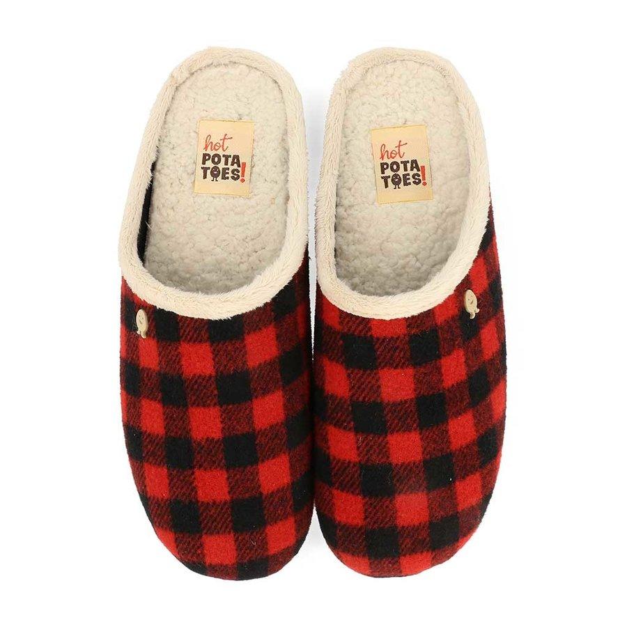 Juneau Rood Zwart Pantoffels Heren