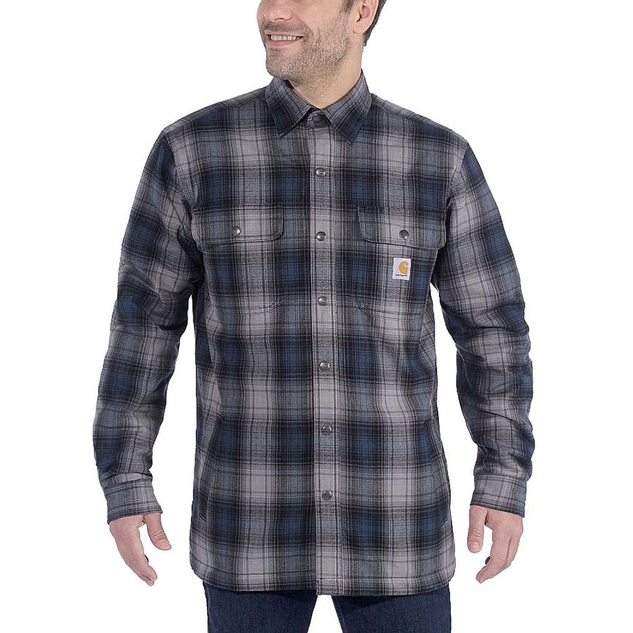 Hubbard Sherpa Lined Shirt Jacket Twilight Heren