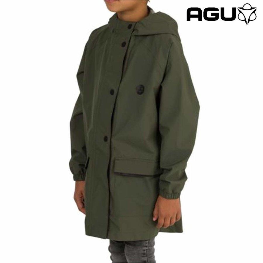 Go Parka Army Green Regenjas Kids