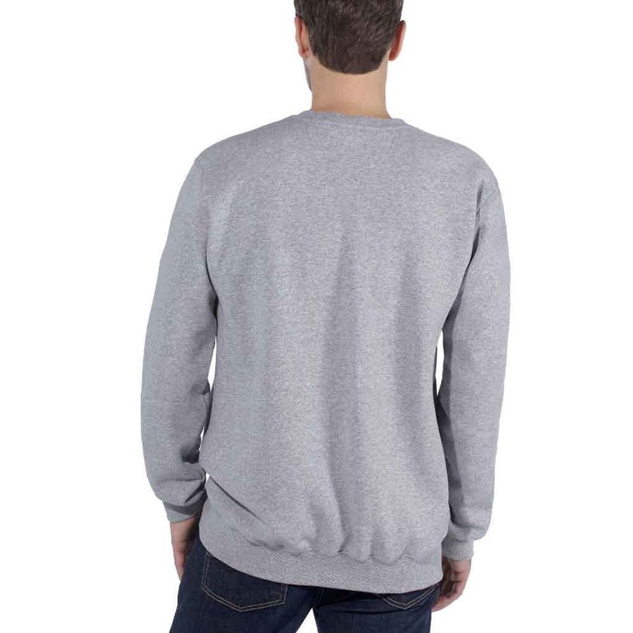 Block Logo Crewneck Heather Grey Sweatshirt