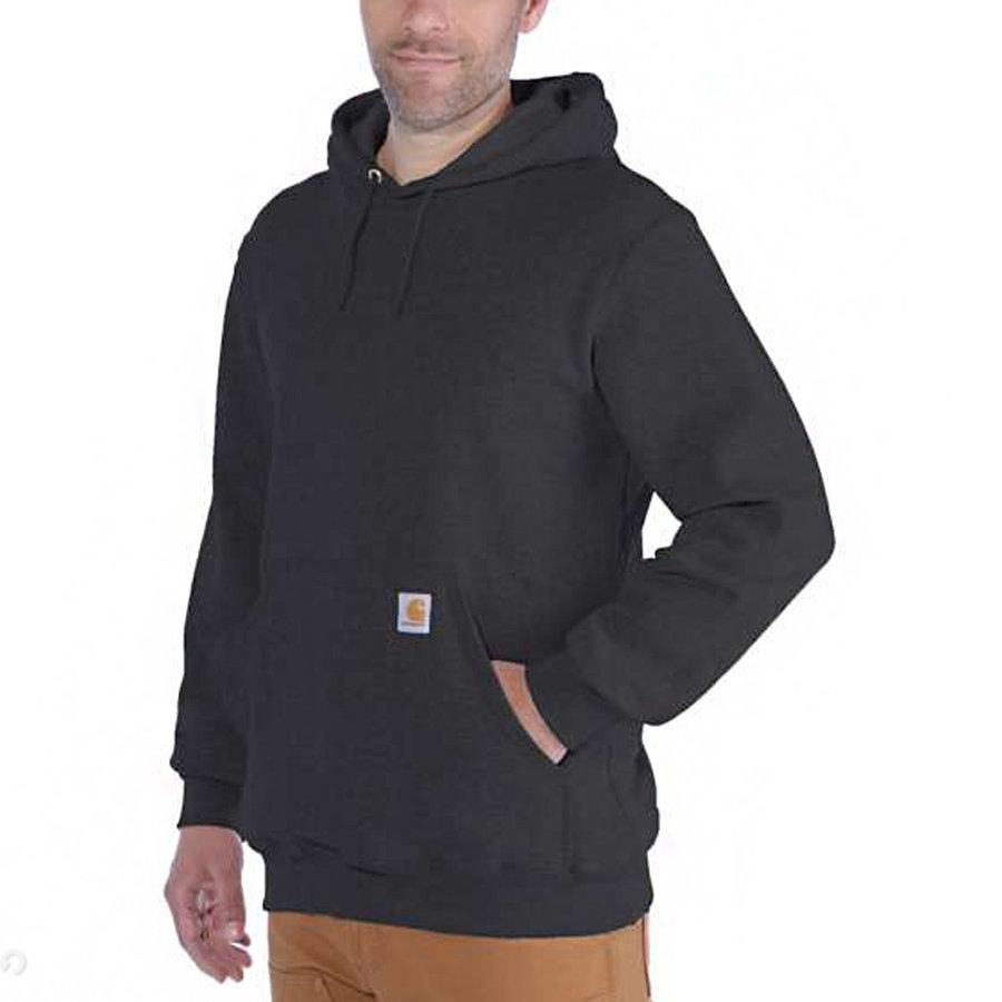 Midweight Hooded Carbon Heather Sweater Heren