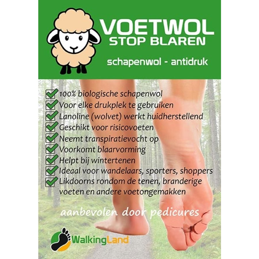 VoetWol  - Stop Blaren 10 Gram