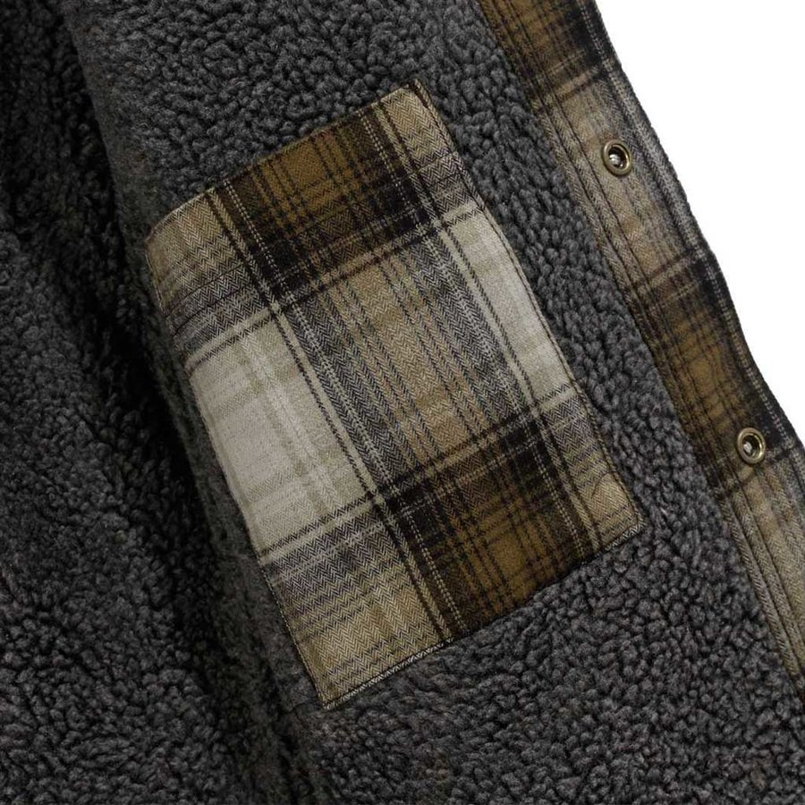 Hubbard Sherpa Lined Shirt Jacket Military Olive Heren