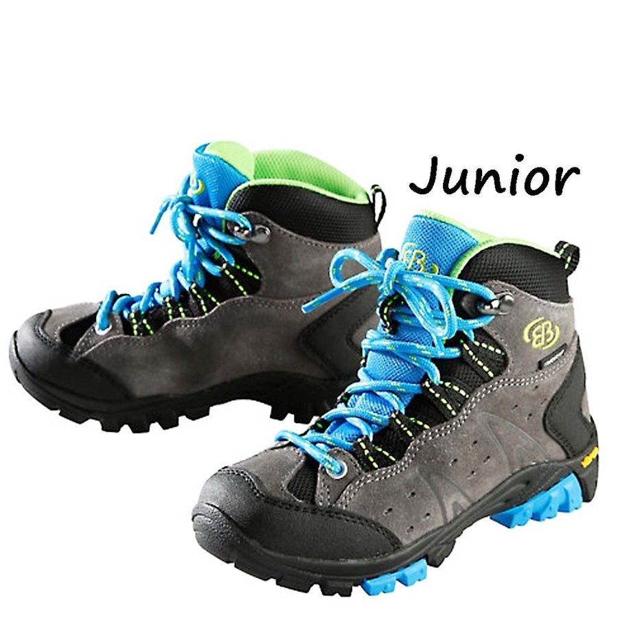 Mount Bona High Grijs-Blauw Wandelschoenen Kinderen