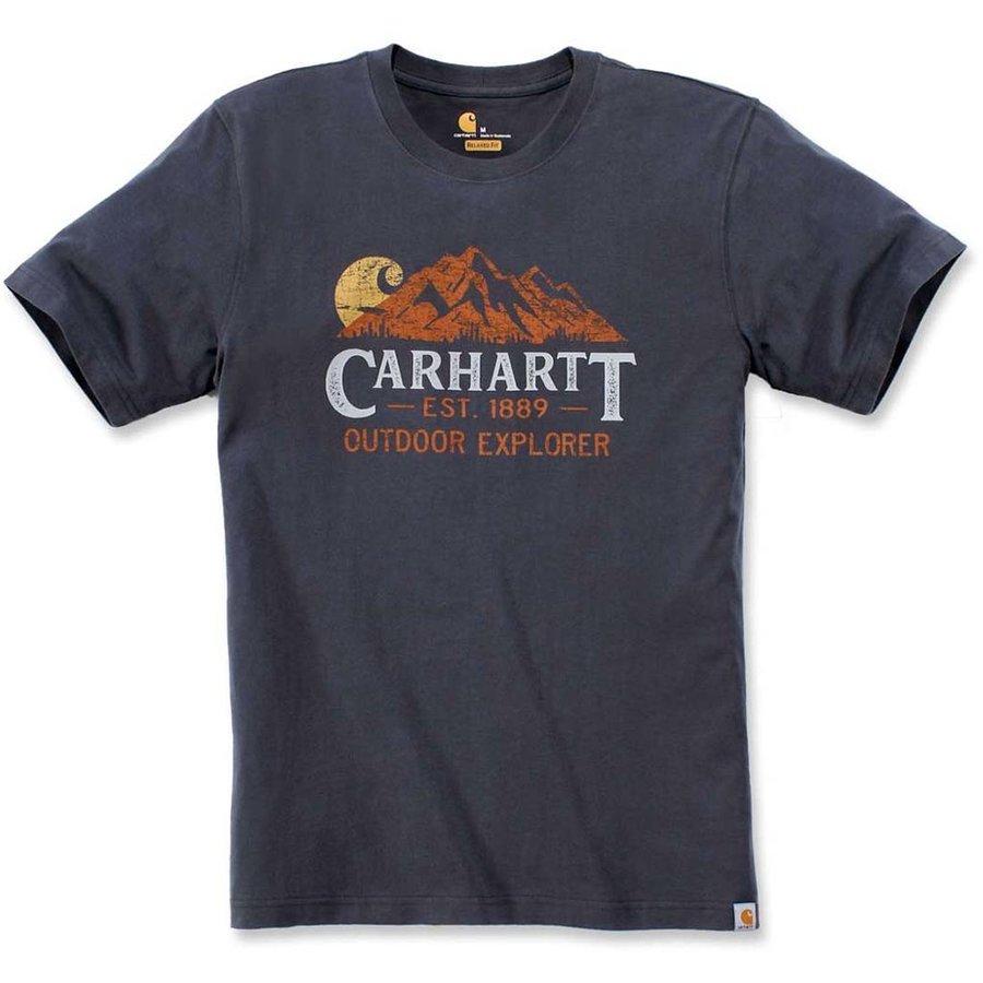 Explorer Graphic Blue Stone T-Shirt Heren
