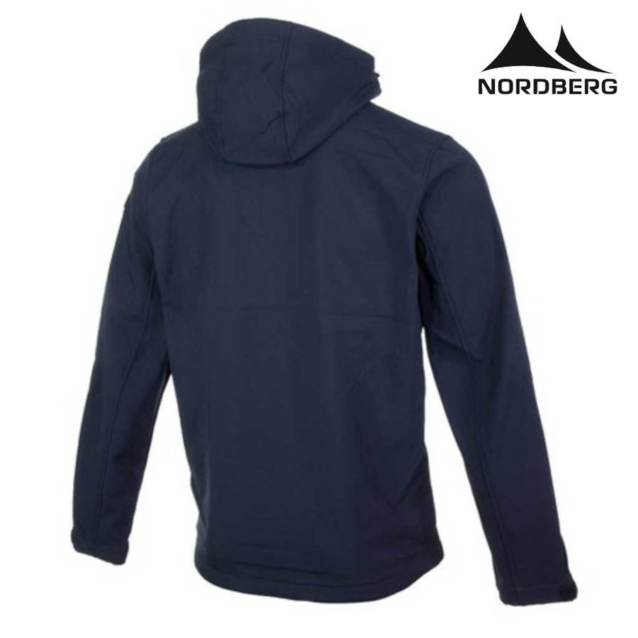 Trond Dark Navy Melange Softshell Jas Heren