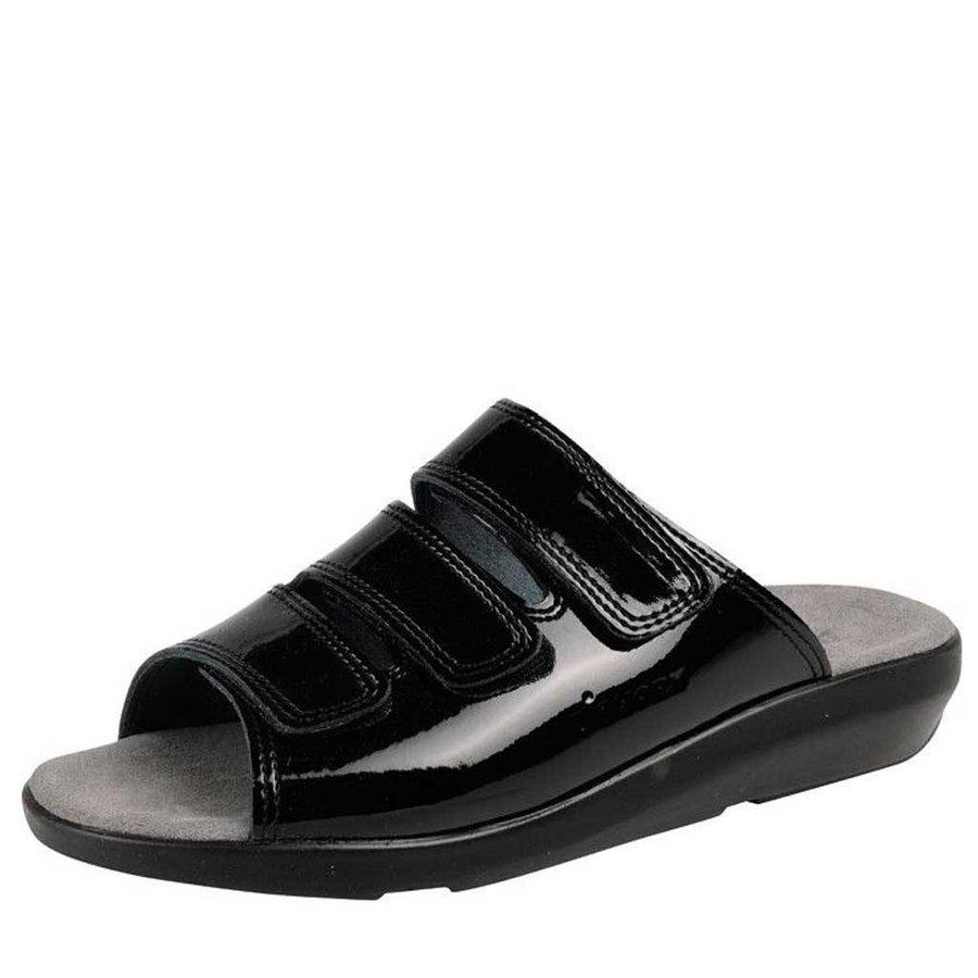 3001 Zwart Lak Slippers Dames