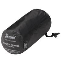 Ripstop Zwart One-Size Poncho Uniseks