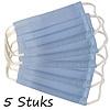iMedisafe Bundel 5 Stuks Mondmaskers - Mondkapjes Wasbaar 60 graden Blauw