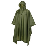 Ripstop Olive One-Size Poncho Uniseks