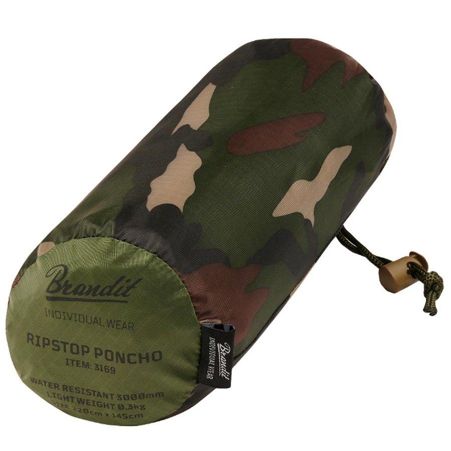Ripstop Woodland One-Size Poncho Uniseks