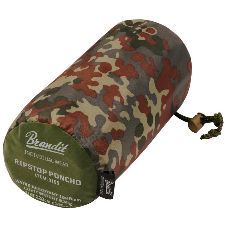 Ripstop Flecktarn One-Size Poncho Uniseks