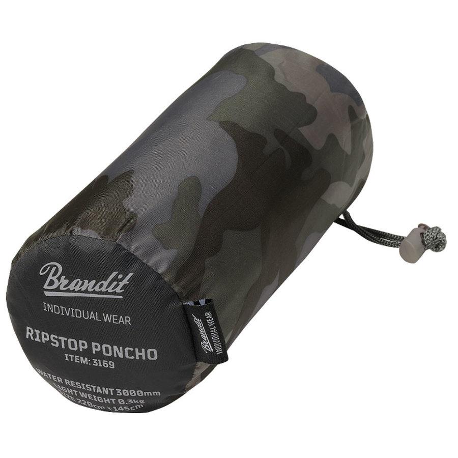 Ripstop Dark Camo One-Size Poncho Uniseks