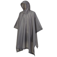 Ripstop Antraciet One-Size Poncho Uniseks