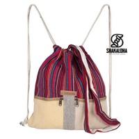 Hicker Bag Rood Blauw Rugtas