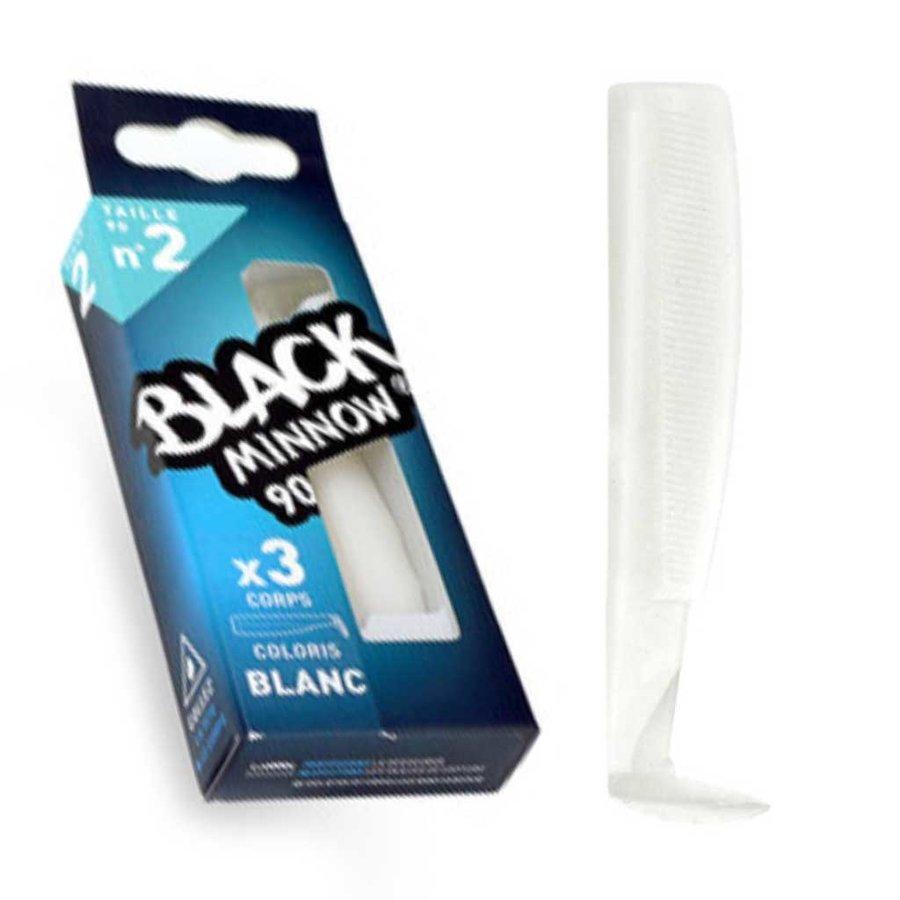 Black Minnow 3 Bodies 90 White Kunstaas