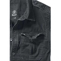 Vintage Shirt Longsleeve Zwart Overhemd Heren