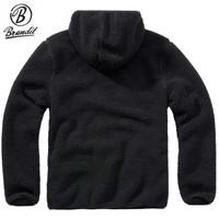 Teddyfleece Worker Pullover Black Sweater Heren