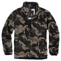 Teddyfleece Jacket Dark Camo Fleece Jas Heren